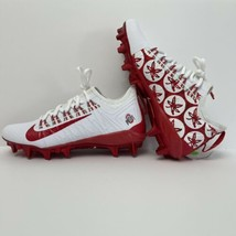Nike Ohio State Buckeyes BV0862-101 Size 7 Red/White Low Football Cleats... - $145.12