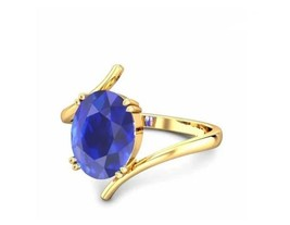 14K Yellow Gold Over 2Ct Oval Cut Blue Diamond Solitaire Women's Engagem... - $82.99