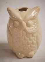 Old Vintage Ceramic White Horned Owl Bird Figurine Curio Cabinet Shelf D... - $14.84
