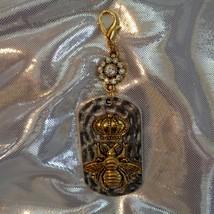 Glitzy Royal Purse Fob- Crown Purse Fob- Glamorous Purse Charm- Royal Glamor image 7