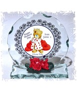 Teddy Bear, Mother's Day Gift, Photo Cut Glass Round Plaque Christmas Ed... - $32.07