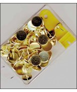 Brass Thumbtacks with remover needlepoint canvaswork  - $3.00