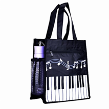 Piano Keys Music Shopping Bag Oxford Handbag Shoulder Tote Large Waterproof - $15.29