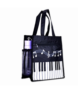 Piano Keys Music Shopping Bag Oxford Handbag Shoulder Tote Large Waterproof - $38.53