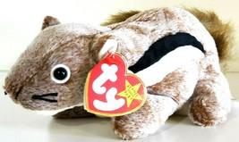 TY BEANIE BABIES ORIGINAL 1999 – Chipper the Chipmunk – MWMT – 7 inches - $13.86