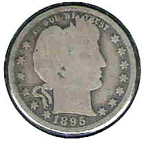 Primary image for Nice 1895P Barber Quarter