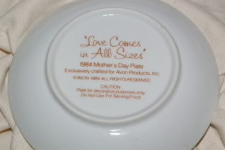Vintage Avon Mother's Day Plates 1984