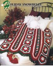 RARE~Holiday Snowbells Afghan Crochet Pattern~Hairpin Lace~Annie's Quilt & Afgha - $24.99