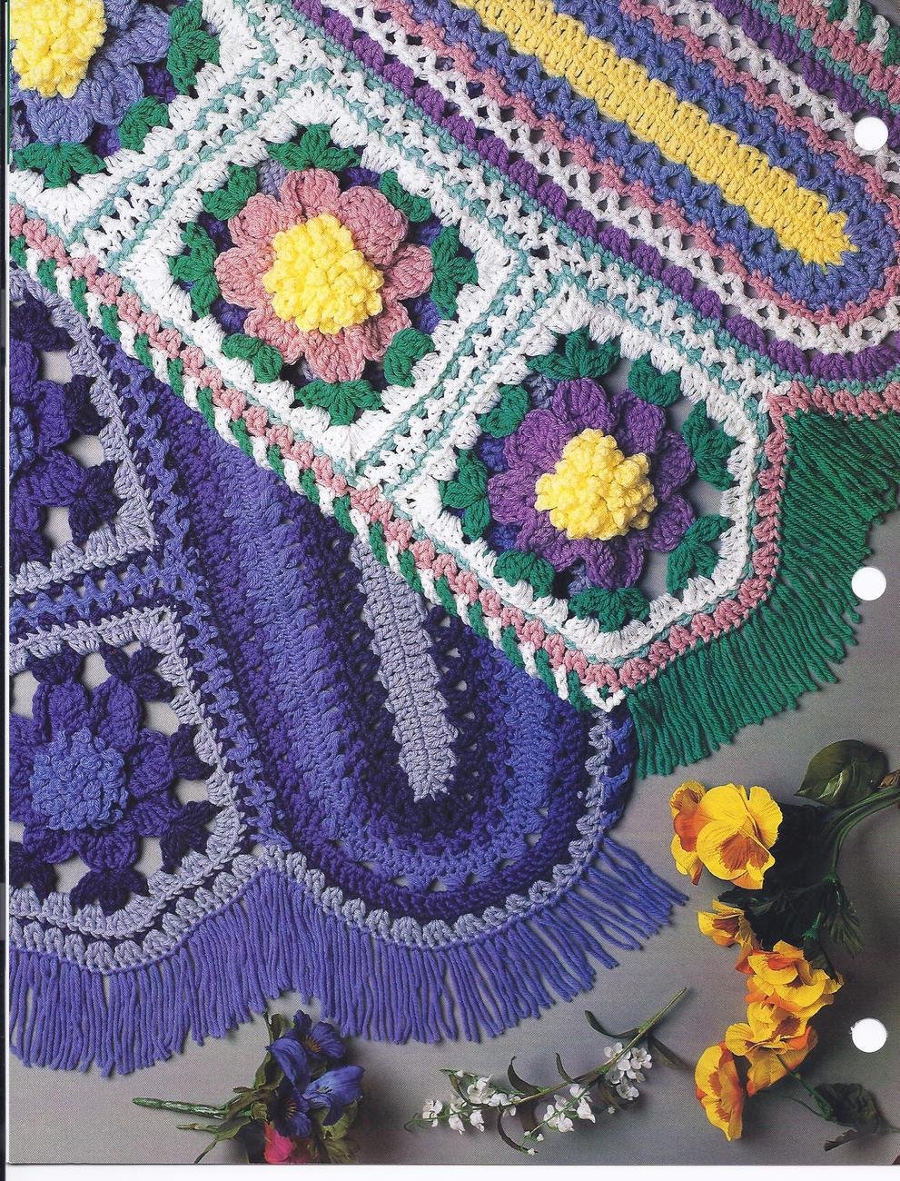 Crochet Afghan Patterns Quilt : RARE~Holiday Snowbells Afghan Crochet Pattern~Hairpin Lace ...