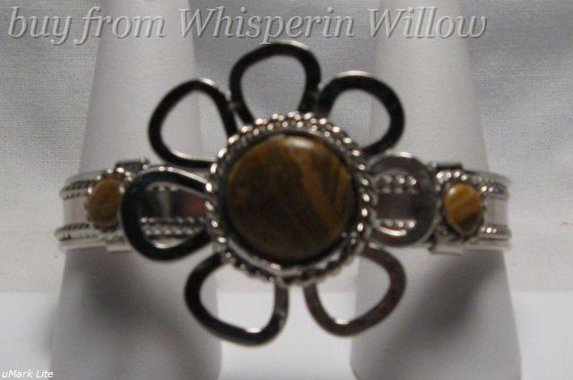 Primary image for Light Tiger Eye Silver Bracelet