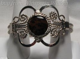Dark Tiger-Eye Silver Bracelet - $12.95