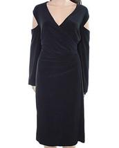 NWT Ralph Lauren Women's Plus Size Cutout Shoulder Ruched Party Dress, B... - $55.60