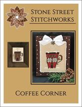 Coffee Corner christmas cross stitch chart Stone Street Stitchworks  - $5.00