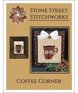 Coffee Corner christmas cross stitch chart Stone Street Stitchworks  - $5.00