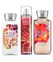 3 Pc Bath & Body Works Wild Madagascar Vanilla Set- Lotion , Shower Gel & Mist - $32.50