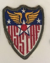 WWII USSTAF US Strategic Air Force cheesecloth back patch 3-1/4 X 2-3/4 #2947 - $12.23