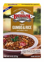 Louisiana Fish Fry, Gumbo w/Rice Mix, 8 oz box Pack of 12