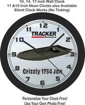 2021 Tracker Boats Grizzly 1754 Jon Boat Wall Clock-Free US Ship - $27.71+