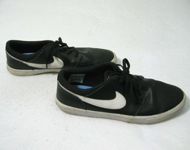 Nike SB Portmore II Solar Premium Mens Black Leather Skate Shoes Size 10... - $19.95