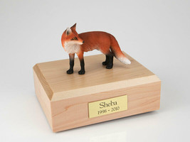 Fox Wildlife Figurine Funeral Pet Cremation Urn Available in 3 Colors & ... - $169.99+
