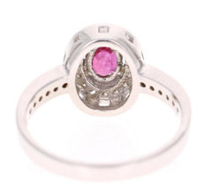 925 Sterling Silver Natural A+ Quality Ruby And Cz Gemstone Handcrafted Design W image 4