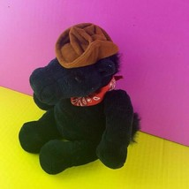 "Wishpets 2002 Big Joey Black Horse Cowboy Hat Bandana 11"" Rodeo Pony Plush  - $16.82"