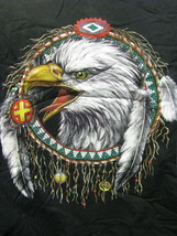 T-shirt  Attacking EAGLE Head inside a Indian Dream Catcher size Extra L... - £22.77 GBP
