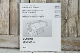 Instruction Manual User Guide for Canon ES8600 HI8 8MM Video Camcorder C... - $12.99
