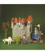 Knit an Enchanted Castle Knitting Pattern Leaflet~RARE~Hard to Find!~Jan Messent - $35.99