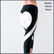 Love Heart Bottom Ladies High Waist Skin Tight Stretch Yoga Workout Leggings image 2