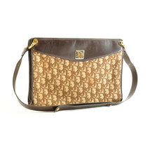 Christian Dior Trotter Canvas Shoulder Bag Brown Auth sa2037 - $298.00