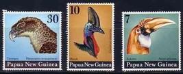 PAPUA NEW GUINEA 1974 # 399-401 BIRDS AUDUBON MNH 4635-RD-A1 - $5.94