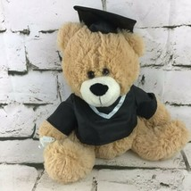 Graduate Teddy Bear Plush In Cap And Gown Sitting Stuffed Animal Best Made Toys - $14.84