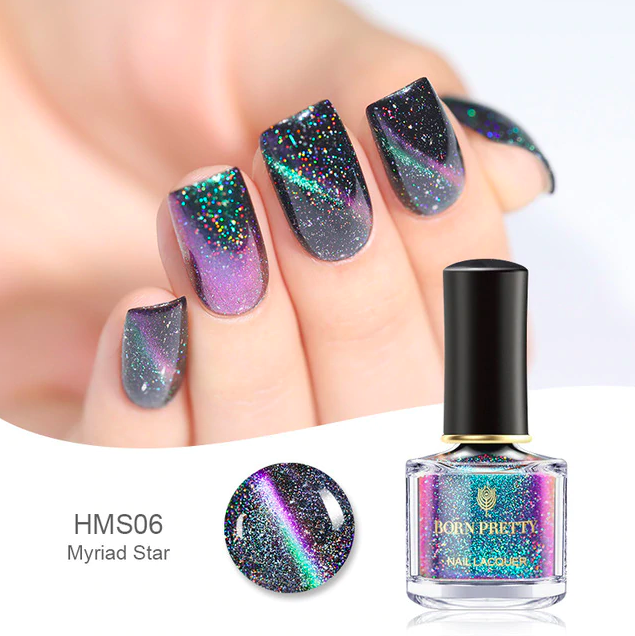 HOLOGRAPHIC 3D MAGNETIC SERIES Glitter Varnish Magnet Nail Art Lacquer image 6