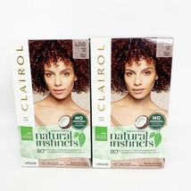 Lot of 2 - Clairol Natural Instinct 4RR Dark Red Hair Dye Last 28 Washes NEW - $15.76