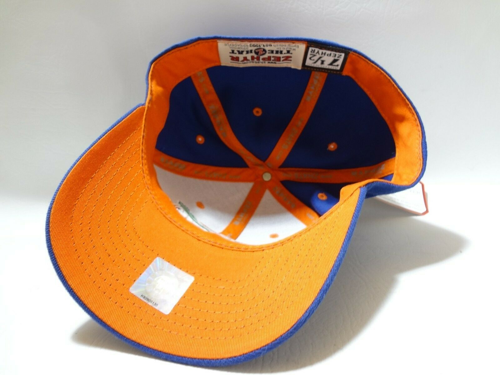 New University Of Florida UF Zephyr Fitted Cap Hat 7 1/2 Z brand College  image 9