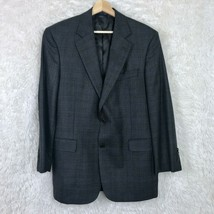 Brooks Brothers Wool Madison Fit Sport Coat Gray Prince Of Wales Check M... - $113.84