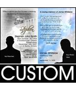 Custom Photo Personalized Memorial Funeral Invitation Cards - $39.99