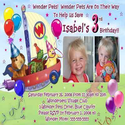 Photo Wonderpets Wonder Pets Birthday Party Invitations