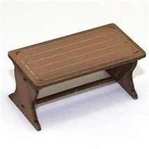 4Ground 28mm Furniture: Light Wood Farm Table