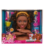 Barbie Color and Style Deluxe Styling Head Curly Black Hair African Amer... - $120.00