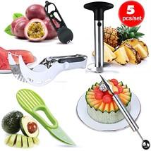 Lasten Fruit Slicer Peeler Set of 5 Included Stainless Steel Pineapple C... - €22,94 EUR