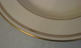 Rare Pfaltzgraff Bone Chine Soup Bowl Wide Rim Innocense Made Usa Cream & Gold - $9.89
