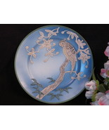 Antique Japan Parakeet Hand Painted Plate, Raised Bird Pattern Early 1920s - $89.99