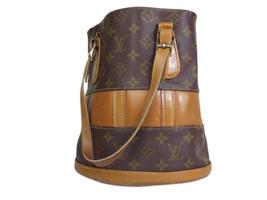 Authentic LOUIS VUITTON Vintage Bucket Monogram Tote Bag Shoulder Bag LS16902L - $259.00