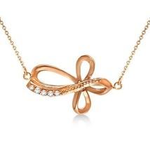 Gold Cross Necklace 14K White Gold Open Cross for Men/Women - $278.19