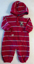 Boy's Size 0-3 M Months Carter's Red Bear W/Football Embroidered Pockete... - $16.50