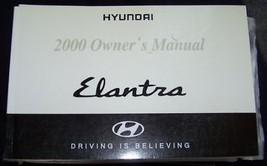 2000 hyundai elantra owners manual new original parts service - $10.99