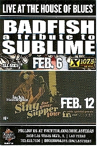 Primary image for Badfish Tribute to Sublime Las Vegas Promo Card