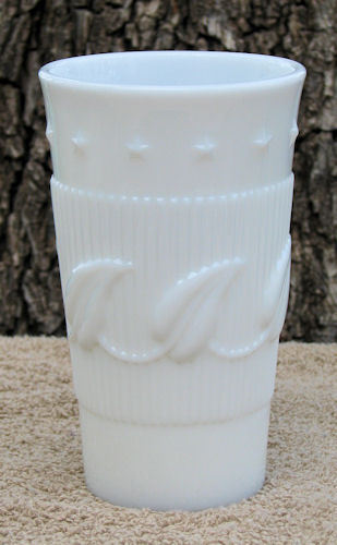 Fostoria Milk Glass Betsy Ross Wistar Ice Tea Tumbler